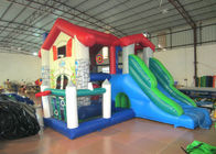 Big house themed inflatable combo farm inflatable combo house inflatable amusement park