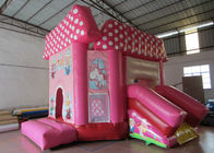 China Pink princess inflatable combo castle lovely inflatable combo house for children commercial inflatable combo factory
