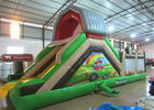 China Hot sale inflatable farm themed amusement park with standard slide on one side inflatable multiplay  fun city company