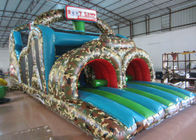 Amusement Park Inflatable Obstacle Courses Boot Camp 14 X 3.8 X 4.8m Fire Resistance