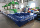 Palm trees slope inflatable water slide 2017 China inflatable water slide with pool