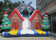New 2019 Christmas inflatable slide big Xmas inflatable slide inflatable windmill snowman high slide