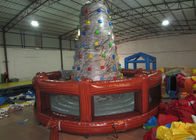 Round inflatable rock climbing wall digital painting Inflatable Mountain Climbing with 0.55mm PVC Tarpaulin