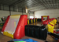 Funny Football Yard Inflatables , Blow Up Soccer Field 12 X 6m Fire Resistance