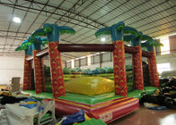 China Inflatable soft moutain sport game inflatable jumping hill with safety net factory