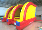 Classic Inflatable Soccer Stadium Shooting Games 5 X 4m , Bounce House Indoor Playground