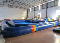 Attractive Inflatable Water Games Giant Outdoor Inflatable Pool 8 * 8 * 0.65m  0.9mm Pvc Tarpaulin