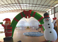 Holiday Blow Up Christmas Decorations , Inflatable Christmas Arch Ornaments 4.6 X 3.6m