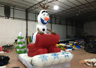 Outdoor Blow Up Christmas Decorations , Commercial Activities Merry Christmas Inflatable