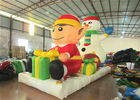 China Commercial Snowman Large Christmas Inflatables , Cartoon Inflatable Holiday Decorations factory
