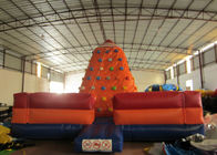 Customized Climbing Wall Inflatable 6 X 6 X 4.5m , Inflatable Water Slide Climbing Wall