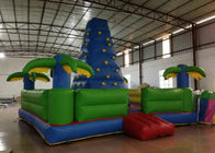 Durable Inflatable Rock Climbing Wall Trees Digital Printing 7 X 7m Safe Nontoxic