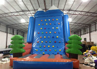 China Amusement Park Inflatable Rock Climbing Wall Sports Games Straight inflatable climb wall with the pine trees factory
