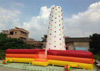 Children Inflatable Climbing Mountain 9 X 9 X 8m white inflatable rock climbing wall with fence around