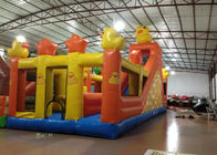 China Inflatable Duck Kids Bouncy Castle ,  High Slide Castle Bounce House 12 X 5m factory
