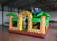 China Savanna Slide Inflatable Bounce House , Amusement Park Inflatable Bouncy Castle factory