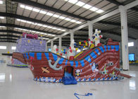 Large  Kids Outdoor Inflatable Pirate Ship Fire Resistance PVC digital painting inflatable pirate boat jump house