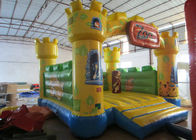 China Waterproof Zoo Inflatable Bouncy Castle , Cartoon Commercial Grade Bounce House factory