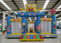 Amusement Park Kids Inflatable Bounce House Digital Printing Fireproof  Material