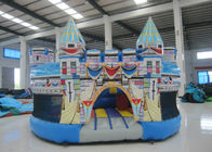0.55mm Pvc Tarpaulin Kids Inflatable Castle Bounce House 5 X 5 X 3m For Water Park