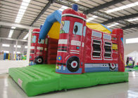 0.55mm Pvc Tarpaulin Indoor Inflatable Bounce House , Toddler Jump House Double Stitching