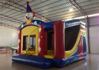 Simple inflatable circus clown bouncy castle PVC material inflatable combo bouncer with slide inflatable jumping house