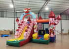 China Classic brown bear inflatable castle bouncy house cheap price inflatable jumping castle combo for kids under 10 factory