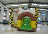 China Hot sale inflatable Stone Age bouncy combo bright colour inflatable stone age jumping house with protection net on sale factory