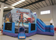 Classic inflatable pirate themed combo 5 in 1 inflatable bouncy castle pirate multi inflatable jump house