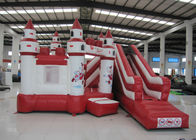 China Simple inflatable jumping castle PVC material red color inflatable bouncer house with slide inflatable bouncy combo factory