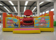 China Big Mouth Monster Design Party City Bounce House , Funny Inflatable Moon Bounce factory