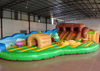 Adorable Bear Inflatable Fun City Amusement Park Big Farmland For Kindergarten Baby
