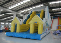 Snow Mountain Big Inflatable Water Slides , Amusement Park Commercial Grade Water Slide