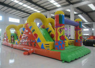 China Amusement Park Inflatable Obstacle Courses 0.55mm Pvc Tarpaulin 12 X 3.8 X 3.5m factory