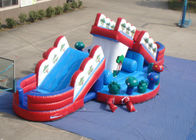 Attractive Funny Inflatable Obstacle Courses Outdoor Games Digital Printing inflatable mushroom slide