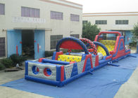 Long Track Professional Bounce House , Commercial Obstacle Bouncy Castle