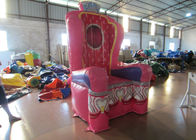 China Pink Inflatable Airtight princess the chair on sale sealed inflatable decoration factory