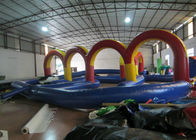Outdoor Race Track Inflatable Sports Games 12 X 12m 0.55mm Pvc Tarpaulin Fireproof