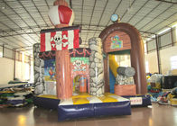 China Commercial Pirate Ship Bounce House , Indoor Playground Pirate Ship Bouncer 5 X 6m factory