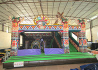 China Amusement Park Inflatable Bouncy Castle With Slide , Commercial Little Kids Jumping Castles factory