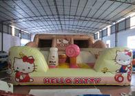 China Hello Kitty Inflatable Jump House Double Stitching 5 X 4.5 X 2.4m For Amusement Park factory