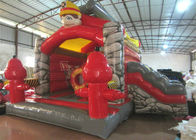 Fireman Mini Bouncy Castle 4.8 X 5.3m , Moonwalk Small Indoor Bouncy Castle