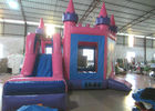 China Attractive Princess Bouncy Castle 5.18 X 4.75 X 4.88m , Blow Up Jump House Double Stitching factory