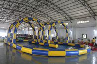 China Big Sealing Material Long Inflatable Race Track For Outdoor Karting Games Interesting inflatable sport games factory