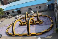 China Fireproof Material Inflatable Race Track For Karting Yellow & Black factory