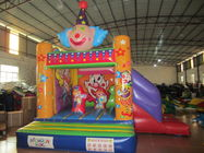 China Funny Painting Kids Inflatable Bounce House Commercial Inflatable Clown Themed Combo Bouncer factory