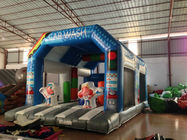 China Wide Inflatable Car Wash Themed Jump House Inflatable Children Bounce With Slide factory