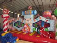 China Colorful Commercial Inflatable Candy Castle Bounce House For Christmas Decoration factory