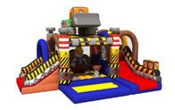 China Construction Builder Combo Jumping House / Double Slides Inflatable Bouncy House factory
