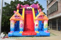 SGS Commercial Inflatable Water Slides / Octopus Double Dry Slide For Children Big Fun